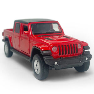 1:36 Jeep Gladiator SUV Pickup Truck Model Car Diecast Toy Vehicle Pull Back Red