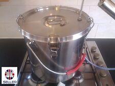 36 liter Stainless Pot & Distiller Alcohol MoonshineFREE ALCOMeter