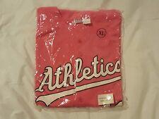 NEW Oakland Athletics XL Pink Breast Cancer Awareness Jersey as a's MLB Baseball