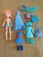 "Polly Pocket ""Colors of the Rainbow""  Blue Big Feet Doll Clothes Modern 8-86"