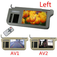 "7"" LCD Car Sun Visor Monitor Driver Mirror Screen For TV DVD Player Rear Camera"