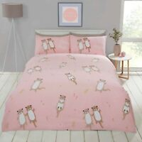 Rapport Otterly Amazing Cute Fun Animal Print Duvet Cover Bedding Set Pink