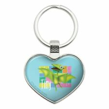 Dinosaur Train Tiny Heart Love Metal Keychain Key Chain Ring