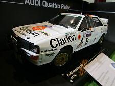 AUDI QUATTRO A2 #8 Rallye RAC de 1985 CLARION au 1/18 SUN STAR 4242 miniature