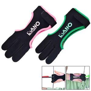 Leicht Handschuh Schutz Tabs Touch 1Stk 3Finge Bogenschießen Langlebig