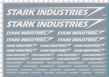 Decals stark industries for different scales model kits (white) 5650