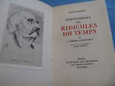 RENE DUMESNIL SUPPLEMENT RIDICULES TEMPS 1929 Illustré DUBREUIL BARBEY GAY EROS