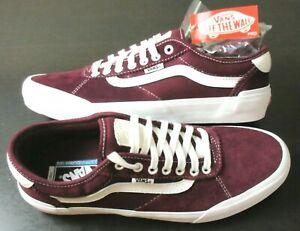 Vans Mens Chima Ferguson Pro 2 Canvas Suede shoes Port Red White Size 11 NWT