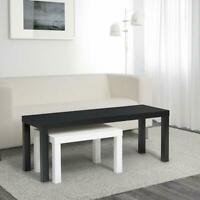 Satztisch Tisch 2 Stück Beistelltisch  Weiß Schwarz Couchtisch Wohnzimmertisch