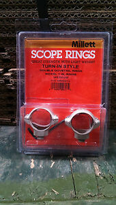 "Millett 1"" Turn-In-Style Medium Nickel Scope Rings"