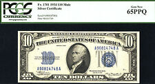 1934, $10 Mule, FR 1701 Silver Certificate - PCGS 65PPQ-57 IN THIS GRADE