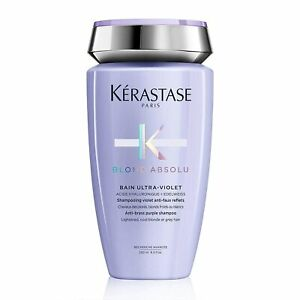 KERASTASE Blond Absolu Bain Ultra Violet Anti-brass Purple Shampoo, 8.5 Fl Oz