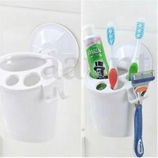 Bathroom Toothbrush Holder Toothpaste Storage Rack Wall Suction Cup Organizer
