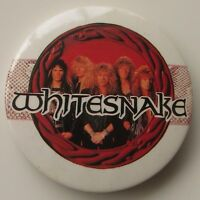 WHITESNAKE LARGE VINTAGE METAL PIN BADGE FROM THE 1980's DAVID COVERDALE ROCK