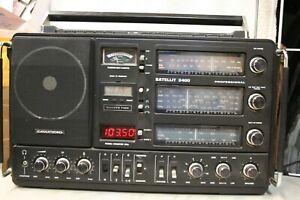 VINTAGE GRUNDIG SATELLIT 3400 Professional SHORTWAVE RADIO World-Band RECEIVER
