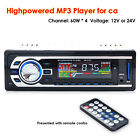 Car Stereo Audio In-Dash FM Aux Input USB MP3 Receiver Music Video Player