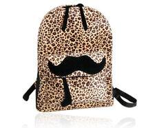 Women's School Student Bookbags Travel Shoulder Backpack Leopard Cute Casual Bag