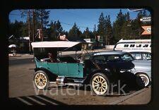 1950s  kodachrome Photo slide Classic Car automobile Bus Lake Tahoe CA