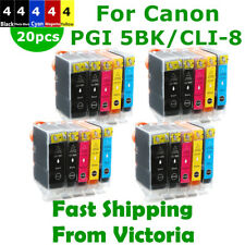20X PGI 5BK CLI 8 Ink Cartridge For Canon IP3500 IX4000 5000 MP510 520 MX700
