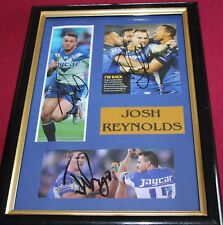 JOSH REYNOLDS~*~SGND & FRMD~*~3 PHOTO'S ALL SIGNED~*~BULLDOGS + COA