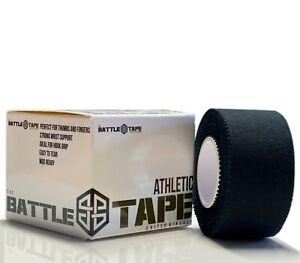 BattleTape Jet Black Athletic Finger Tape 2.5cm x 5m Weightlifting Climbing Gym