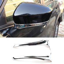 For Mazda Cx-5 Cx5 2012-2014 Chrome Rear View Side Door Mirror Cover Trim Strip