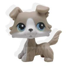 New #67 Rera Littlest Pet Shop Grey Tan Brown Collie Dog Puppy Blue Eyes LPS