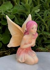 Miniature Figurine FAIRY GARDEN ~ Pastel Flower Fairy Girl LILY Figurine~ NEW