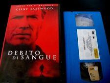 DEBITO DI SANGUE- CLINT EASTWOOD_VHS EX NOLO_FILM POLIZIESCO 2002_VHS USATA