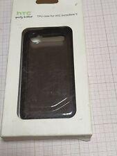 Original genuine HTC Incredible S TP C570 TPU case smokey black New Blister