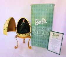 2000 Empress of Emeralds Barbie Resin Egg Music Box plays Mozart minuet Avon NIB