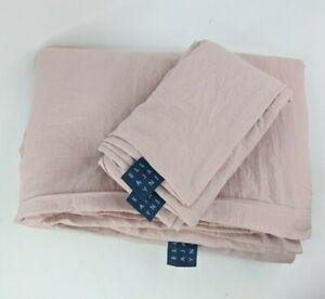 Ella Jayne Brushed Microfiber Super Soft Duvet Cover Set Full / Queen Rose NWOT