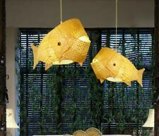 Bamboo Fish Chandelier Restaurant Lighting Indoor Hallwat Dining Room Ceiling