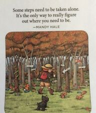Mary Engelbreit Handmade Magnet-Some Steps Need To Be Taken Alone