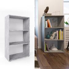 VICCO Bücherregal 120 x 60 cm Weiß / Grau Beton - Wandregal Standregal Büroregal