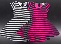 Girls Pogo Club White or Black Striped Dress w/ Sequins Size 4 - 14/16