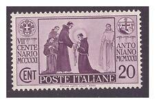 REGNO 1931 -  S. ANTONIO   Cent. 20 NUOVO **