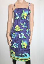 SUMMER BLUE Designer Blue Floral Sleeveless Day Dress Size 10 BNWT #SO74