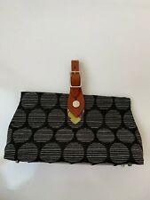 Add Libb Designs Spur Strap Biloba Handbag Black Cotton Leather Strap