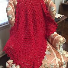 Crocheted Sweet Dreams Baby Blanket Red - Yarn Bee Yarn Soo Soft!!