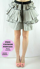 Cue Above Knee Solid Mini Skirts for Women