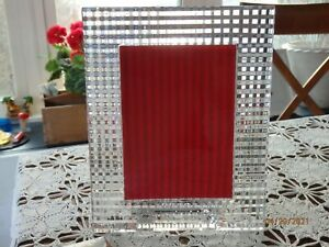 BACCARAT GLASS CRYSTAL.MADE IN FRANCE.PHOTO.PICTURE FRAME.EYE.NEW IN BOX.CLEAR.