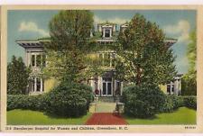 Sternberger Hospital For Women & Children Kids GREENSBORO NC Vtg 1920s Postcard