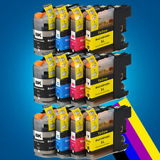 12 Chipped Ink Cartridge for Brother LC123 DCP J132W J152W J552DW MFC-J650DW 2