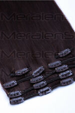 Premium Full Head Clip In 100% Real Remy Human Hair Extensions & Highlights