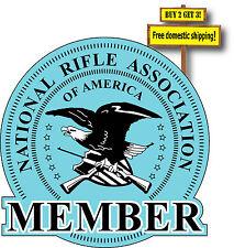 NRA National Rifle Association Member Decal/Sticker Die Cut Gun Right p21