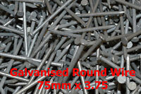 0.5 kg, GALVANISED ROUND WIRE NAIL PICK YOUR SIZE 500g TRADE-FIXINGS DIRECT
