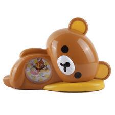 JAPAN RILAKKUMA RELAX BEAR 3D SLEEP SHAPE ALARM CLOCK - YELLOW BOX