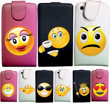 IDB CUSTODIA COVER CASE ECO PELLE EMOTICON SMILE PER SAMSUNG GT S5230 S5233