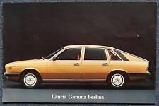 LANCIA GAMMA BERLINA Car Sales Brochure c1976 #88795796